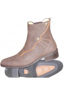 Flora  velvro flap anckle boots